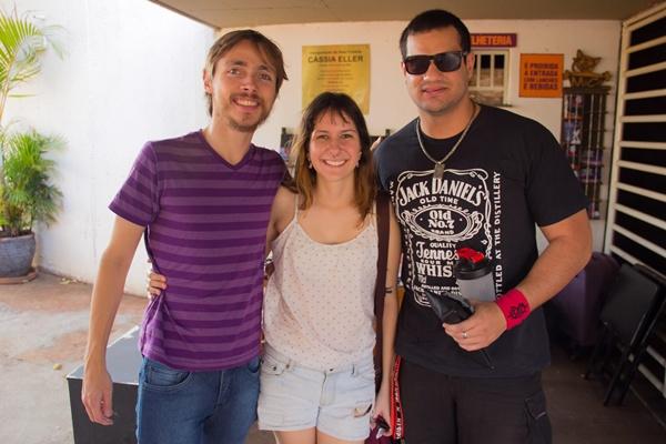 Alexandre Vitalino, Ana Camargo e Rodrigo Barço no QZO Festival, na Funarte (Rômulo Juracy/Esp. CB/D.A Press)