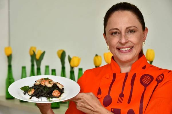 Daniela Goulart acredita que ser personal chef é mais desafiante  (Breno Fortes/CB/D.A Press)