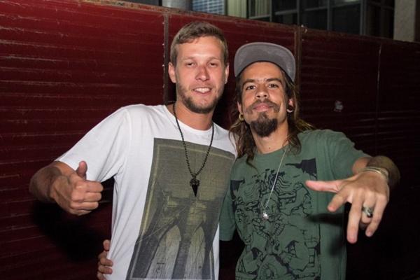 Lúcio Goes e DJ The White the Moustache (Rômulo Juracy/Esp. CB/D.A Press)