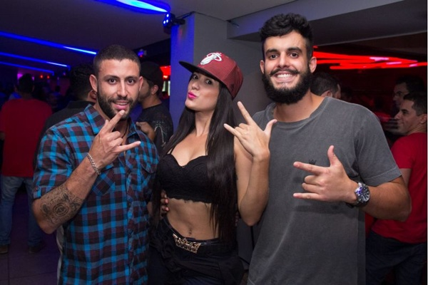 DJ BKM, Beatriz Lima e Matheus do Vale (Rômulo Juracy/Esp. CB/D.A Press)