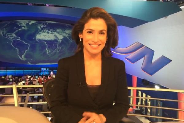 Renata Vasconcellos já apresentou o Jornal Hoje, Bom dia Brasil, Fantástico e GloboNews (Reprodução/Facebook)