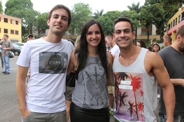 Lucas Quintella, Laísa Campaneda e Lucas Ramalho (Romulo Juracy/Esp. CB/D.A Press)