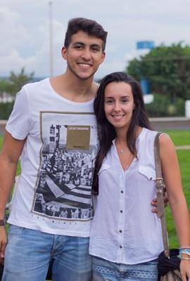 Luis Santos e Júlia Solléro (Romulo Juracy/Esp. CB/D.A Press)