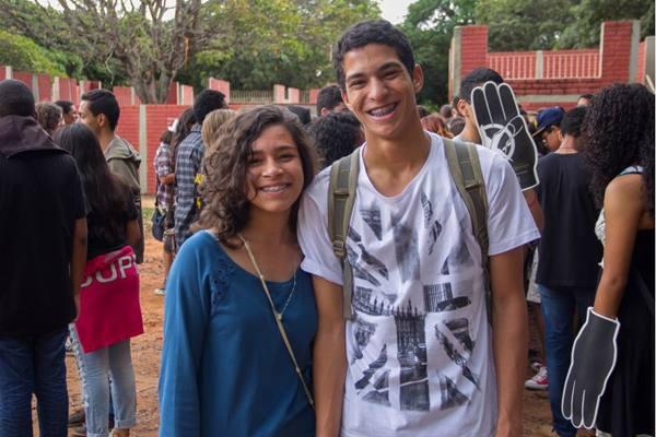 Nathália Lidiana e Esdras Souza (Rômulo Juracy/Esp. CB/D.A Press)