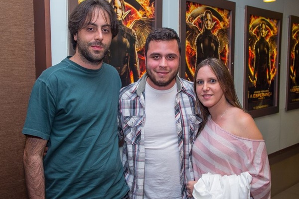 Iago Martins, Ronan Lucas e Cristiane Andrade (Romulo Juracy/Esp. CB/D.A Press)