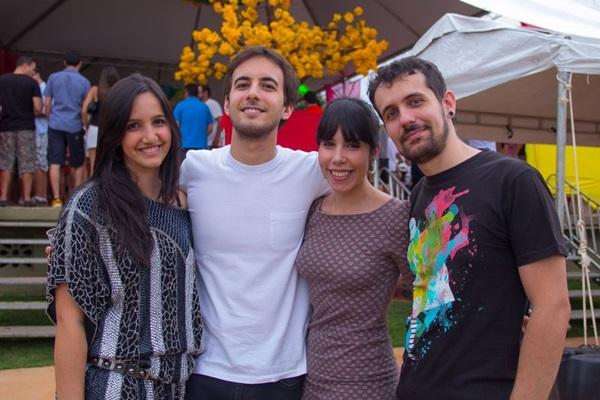 Laisa Carpaneda, Lucas Quintella, Maíra Morais e André Cruz (Romulo Juracy/Esp. CB/D.A Press)