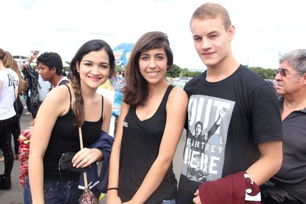 Ana Paula Galvão, Luiza Davison e Rodrigo de Freitas (Romulo Juracy/Esp. CB/D.A Press)