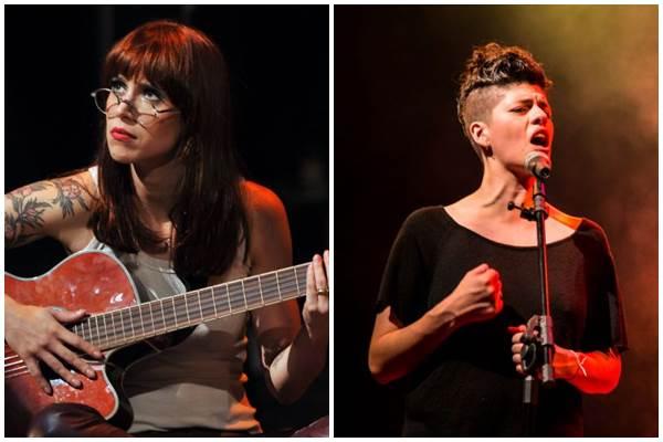 Mel Lisboa e Tacy Campos dão vida às cantoras Rita Lee e Cássia Eller, respectivamente (Rafael Vato/Divulgação,Marcos Hermes/Divulgação)