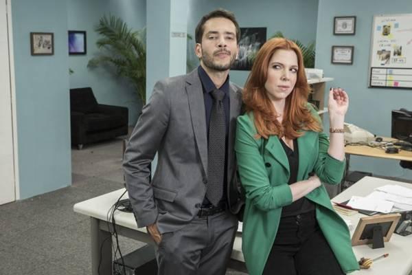 A comédia Fred e Lucy se passa em uma agência de investigações amorosas: local propício para originar boas histórias  (Juliana Coutinho/Multishow)