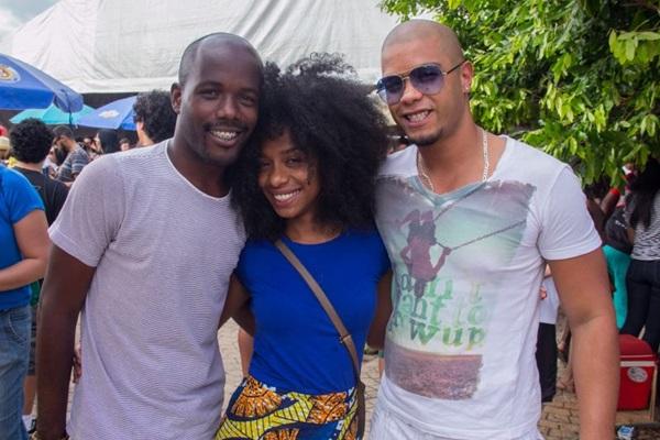 Damien Sundiata, Dina Araújo e Leonardo Andrade (Romulo Juracy/Esp. CB/D.A Press)