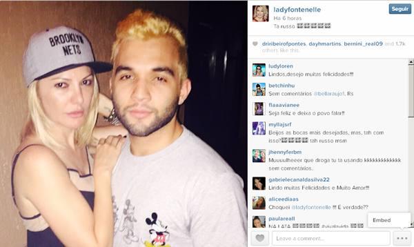 A atriz publicou uma foto ao lado de Jonathan no Instagram (Reprodução/Instagram)
