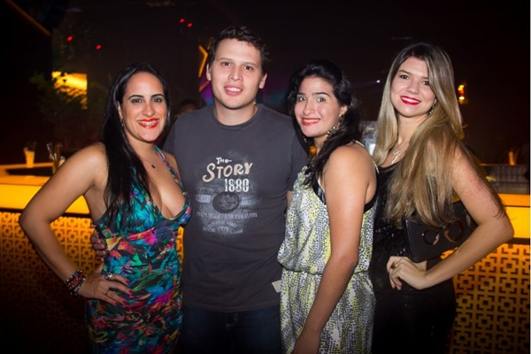 Mariana Alves, Lucas Alencar, Juliana Alves e Vanessa Azevedo (Rômulo Juracy/Esp. CB/D.A Press)
