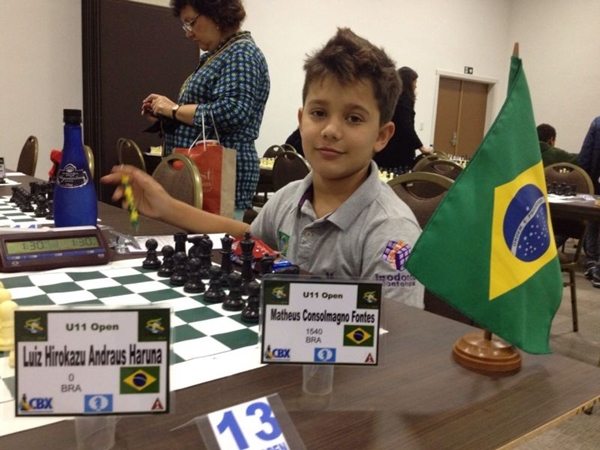 Matheus participa de campeonatos desde os oito anos de idade (Arquivo pessoal)
