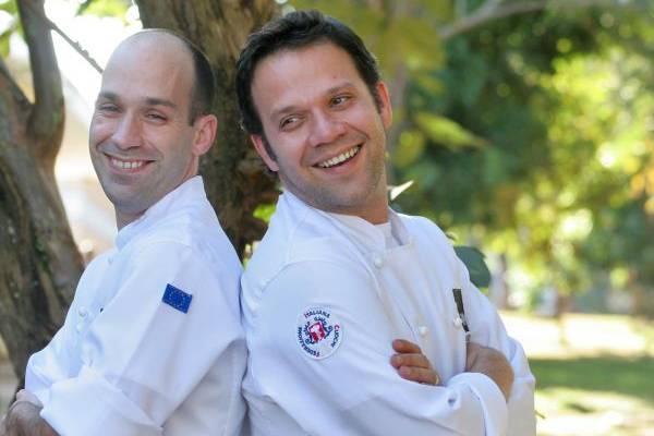 Mauro (careca) e Bruno Rappel, os irmaos da confeitaria Rappel (Monique Renne/Esp. CB/D.A Press)