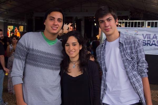 Daniel Aguiar, Lorena Veras e Lucas Eloi (Romulo Juracy/Esp. CB/D.A Press)