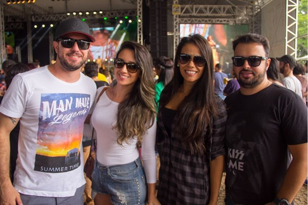 Felipe Monteiro, Cimara Sena, Bruna Medeiros e Duda Mossoró (Romulo Juracy/Esp. CB/D.A Press)