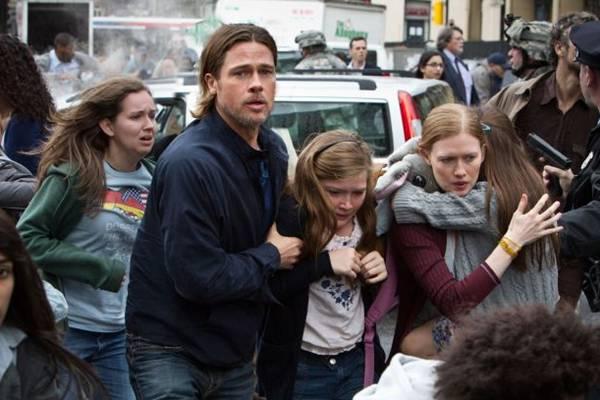 Ator Brad Pitt em cena do filme, Guerra Mundial Z (Paramount/Divulgação)