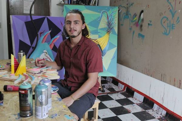 As cores e traços fortes  são marcas presentes no trabalho de Thales Fernando (Zuleika de Souza/CB/D.A Press)
