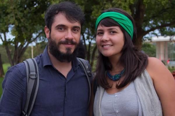 Léo Rizzo e Hannah Gopa (Rômulo Juracy/Esp.CB/D.A Press)