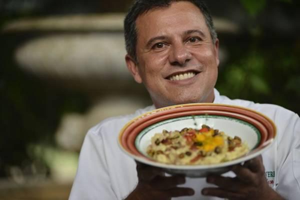 Flávio Leste indica risoto de abacaxi com tender e pistache: aromas natalinos  (Daniel Ferreira/CB/D.A Press)