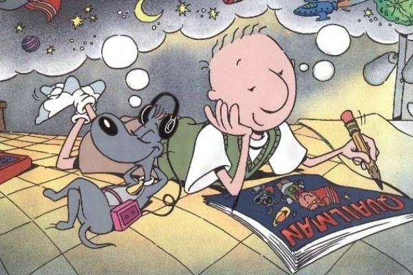 Doug tinha a companhia do cachorro Costelinha ao escrever em seu diário  (Reprodução/Internet)