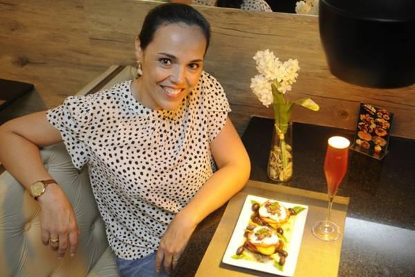 Luciana Paiva e a salada Diversità: ideia era sair das folhagens (Bruno Peres/CB/D.A Press)