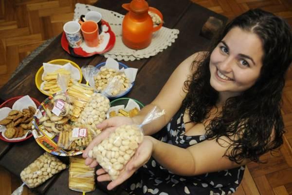 Rebeca Tscheidel resgatou receitas familiares e incluiu opções mais contemporâneas na Vóia  (Bruno Peres/CB/D.A Press)