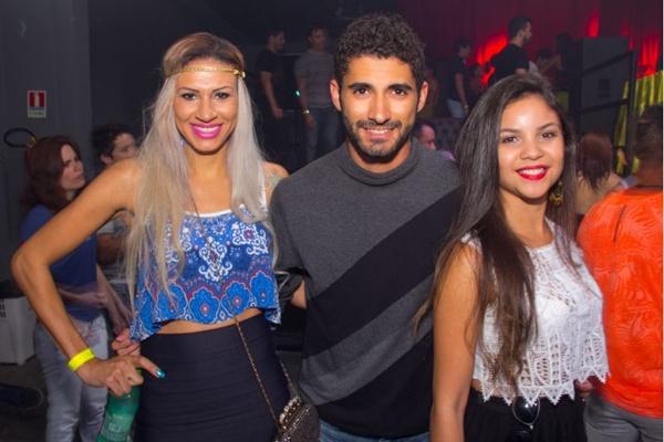 DJ Liza Rodrigues, Fernando Lima e Rafaela Alves (Romulo Juracy/Esp. CB/D.A Press)