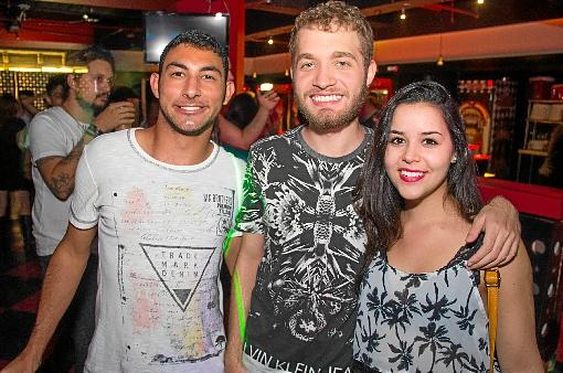 Caio Quemel, Daniel Veras e Tamires Jade (Rômulo Juracy/Esp. CB/D.A Press)