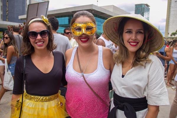 Bianka de Sousa, Ellen Souto e Deborah Faria (Rômulo Juracy/Esp. CB/D.A Press)