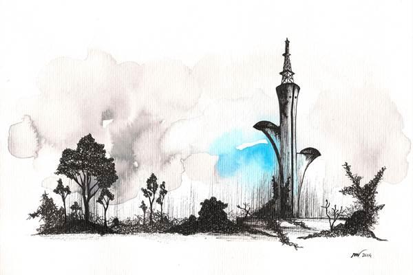 Trabalho de Rodrigo Mota na exposição Além do plano: olhares abstratos (Rodrigo Mota/Divulgação)