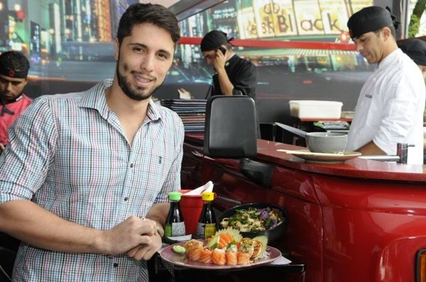 Felipe Braga, dono do Restaurante Nakombi (Bruno Peres/CB/D.A Press)