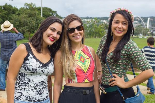 Ana Argollo, Priscila Oliveira e Stefane Nascimento (Rômulo Juracy/Esp. CB/D.A Press)