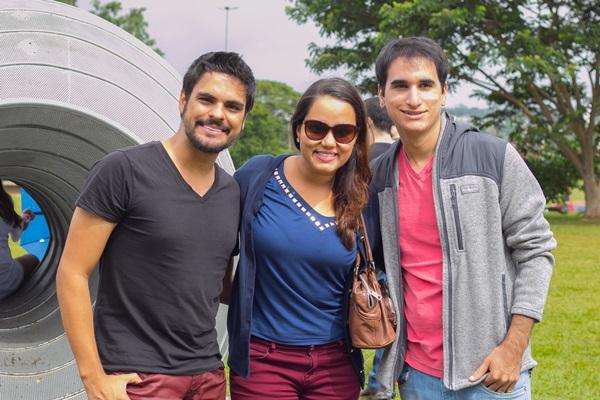 Hugo Baqui, Walkíria de Carvalho e Pedro Ivo (Rômulo Juracy/Esp. CB/D.A Press)