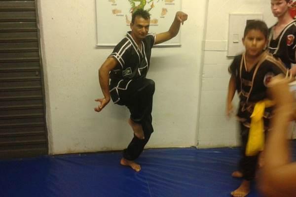 Lutador de kunf-fu Leandro José Rosa  (Arquivo Pessoal)