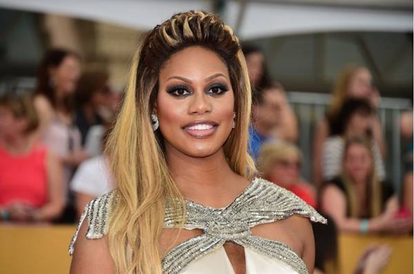 Atriz Laverne Cox (AFP PHOTO / FREDERIC J. BROWN )
