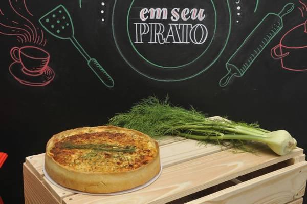 Quiche de alho-poró e erva-doce: especialidade do Lá em casa Cuisine D'Amis  (Antonio Cunha/CB/D.A Press)