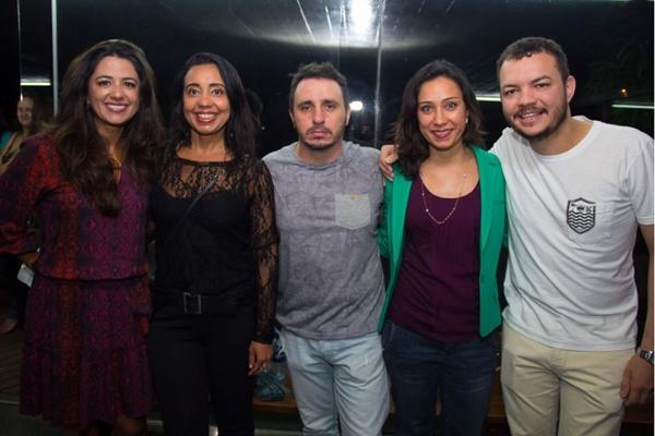 Valéria Freitas, Francine Anjos, Thiago Esteves, Elaine Ferreira e Andreive Ribeiro (Romulo Juracy/Esp. CB/D.A Press)