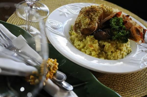 No risoto de lagostas do Limoncello, as trufas-negras trazem leveza e sabor  (Bruno Peres/CB/D.A Press)