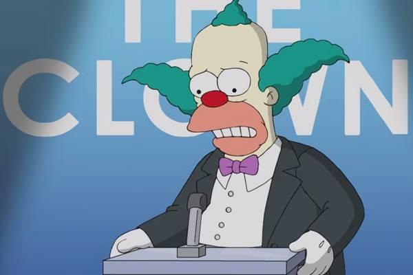 Krusty, o Palhaço, é o protagonista do primeiro episódio (Fox/Divulgação)