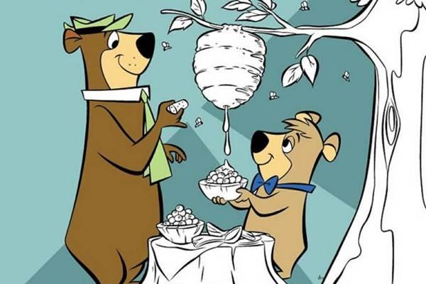 O desenho estrelado por Zé Colmeia foi transmitido por três emissoras abertas no país  (Hanna Barbera/Divulgação)