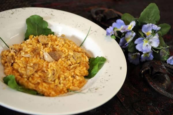 O risoto de frango é uma das receitas tradicionais italianas da Cantina da Massa  (Bruno Peres/CB/D.A Press)