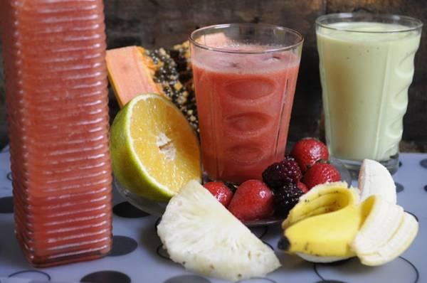 Mix de frutas do Maratona Café: cai bem com sanduíche de peito de peru  (Bruno Peres/CB/D.A Press)