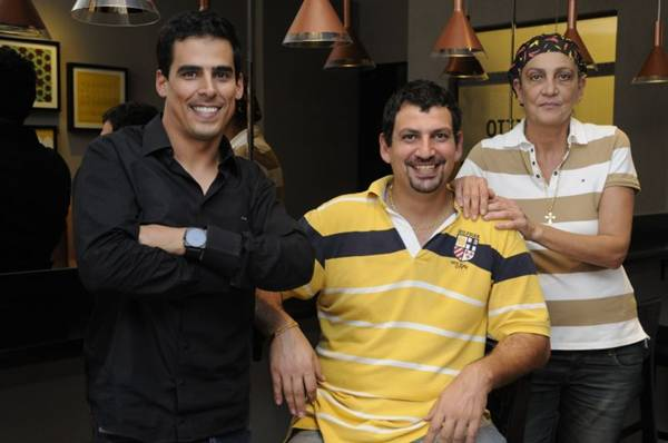 Ricardo, Adonis e Sana: parceria bem-vinda (Bruno Peres/CB/D.A Press)