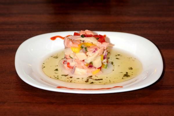 Ceviche de pescados do Kimura Sushi, em Vicente Pires  ( Carlos Moura/CB/D.A Press)