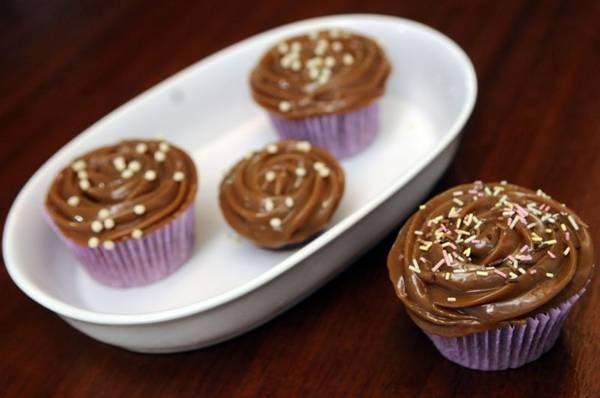 O cupcake da Casa Gourmet leva flor de sal e caramelo para realçar o sabor ( Bruno Peres/CB/D.A Press)