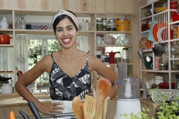 Apresentadora Bela Gil, do programa Bela cozinha (Alexandre Campbell/Divulgação)