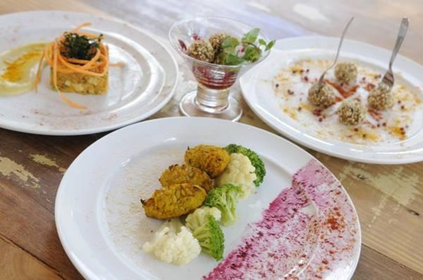 Pratos conceitos do restaurante vegano Supren Verda (Bruno Peres/CB/D.A Press )