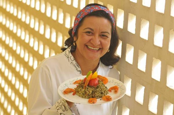 A chef Márcia Latão aposta no arroz de cuxá, que leva o cereal e camarões  (Minervino Junior/CB/D.A Press)