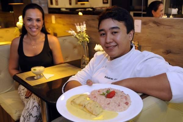 Luciana Paiva e José Eduardo Kimura criaram pratos especialmente para a data  (Bruno Peres/CB/D.A Press)
